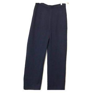 St. John Collection Navy Blue Santana Knit Pants M